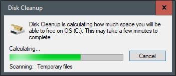پاک کردن حافظه کش موقت فایل ها با Disk Cleanup