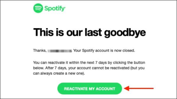 دلیت اکانت اسپاتیفای (Spotify)