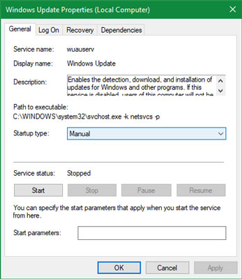 تعمیر سرویس آپدیت ویندوز