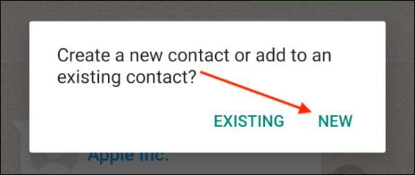نحوه افزودن مخاطب در واتساپ در اندروید