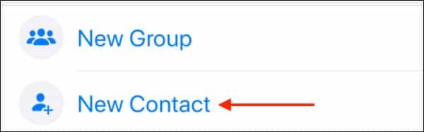 آموزش اضافه کردن مخاطب در واتساپ آیفون
