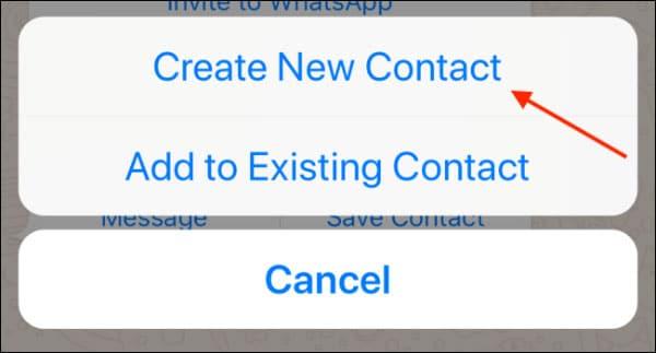 نحوه اضافه کردن مخاطب در واتساپ آیفون