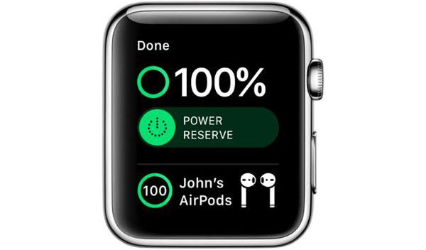 نحوه بررسی شارژ باتری ایرپاد در اپل واچ