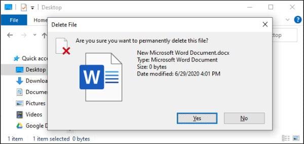 چگونه یک یا چند فایل را مستقیم حذف کنیم