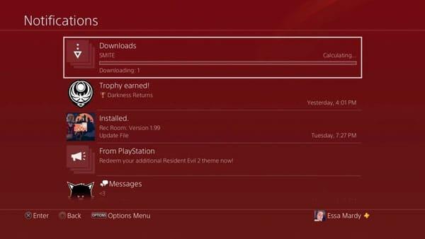 مدیریت زمان دانلود در PS4