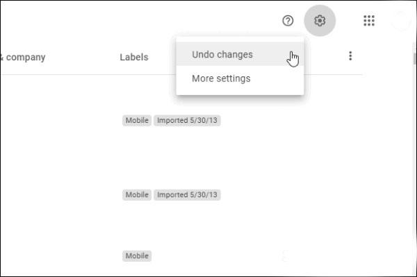 بازیابی مخاطبین حذف شده از اکانت گوگل