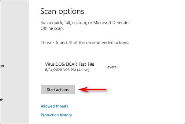 بررسی ویروسی بودن فایل در ویندوز 10