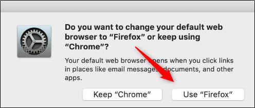 تنظیم مرورگر پیش فرض مک از تنظیمات فایرفاکس