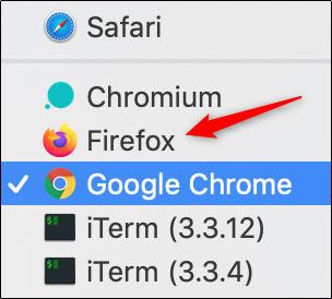 تنظیم فایرفاکس به عنوان مرورگر پیش فرض مک
