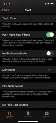 تنظیم زنگ هشدار در اپل واچ و آیفون