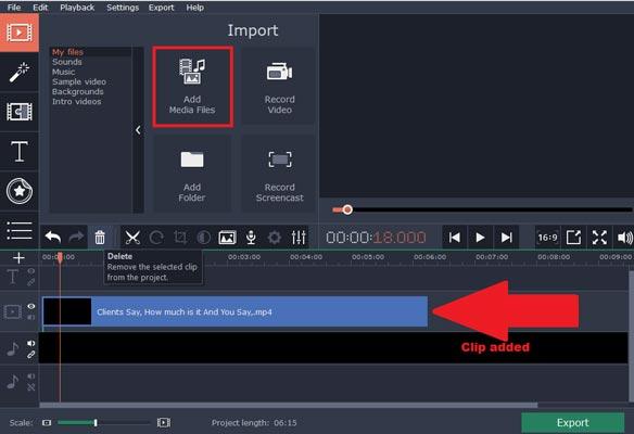 حذف کردن صدای فیلم با استفاده از Movavi Video Editor
