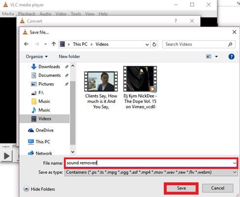 حذف صدای فیلم با استفاده از پلیر VLC