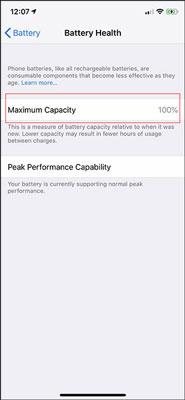 سلامت باتری آیفون iOS 11.3 و بالاتر، از تنظیمات