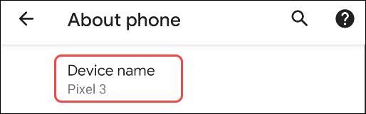 عوض کردن اسم گوشی اندروید