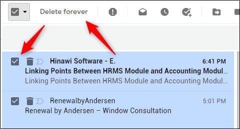 نحوه حذف کردن ایمیل در جیمیل