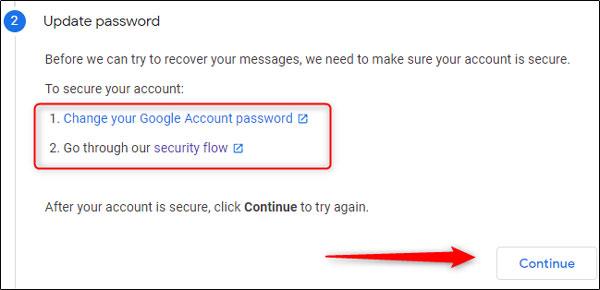 درخواست به گوگل برای بازیابی ایمیل های حذف شده