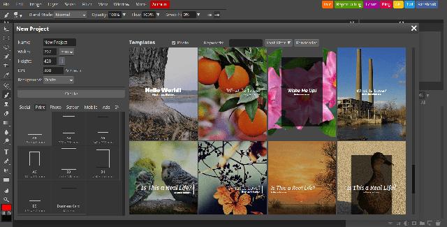 سایت Photopea بهترین سایت فتوشاپ آنلاین رایگان
