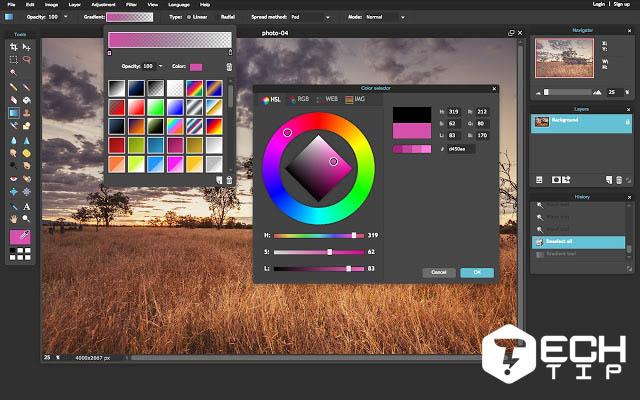 سایت فتوشاپ Pixlr Editor
