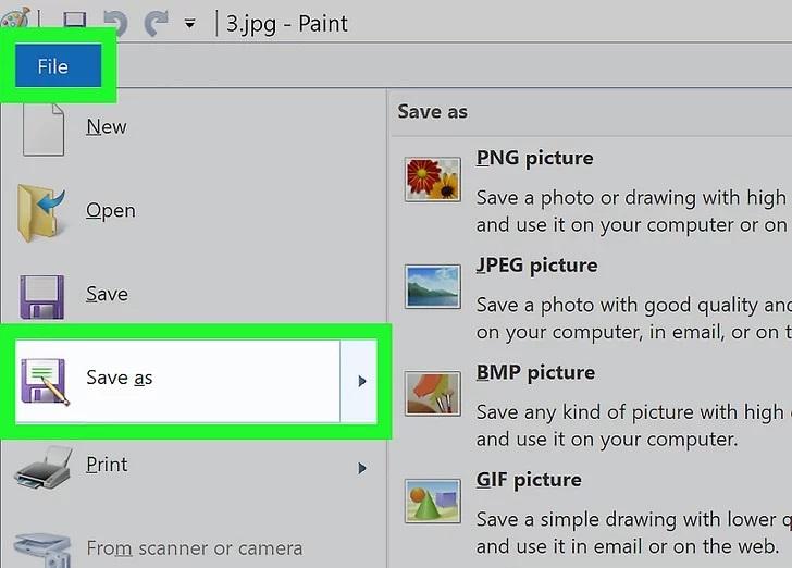 استفاده از Paint در ویندوز با نحوه تغییر قالب تصویر آشنا شوید