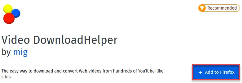 بارگیری از YouTube Video DownloadHelper Firefox