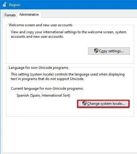 تغییر زبان سیستم ویندوز 10
