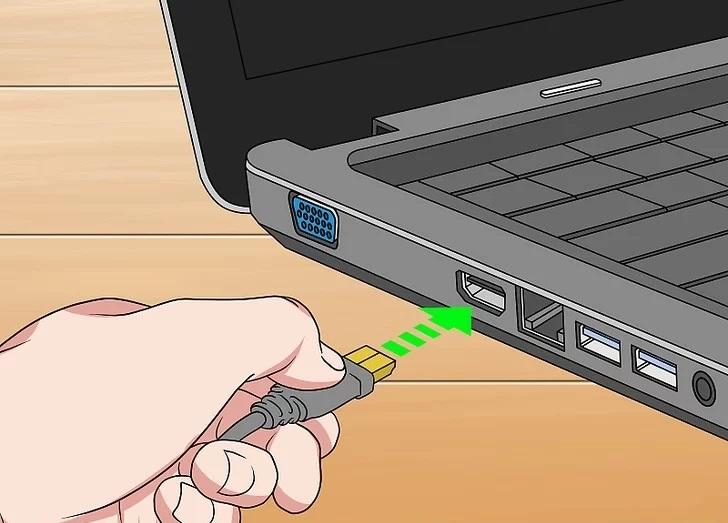 مانیتور را به لپ تاپ وصل کنید