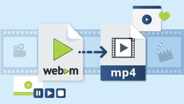 تبدیل فرمت webm به mp4