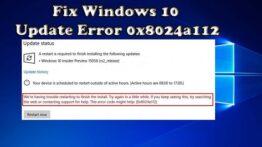 Fix Windows Update Error 0x8024a112