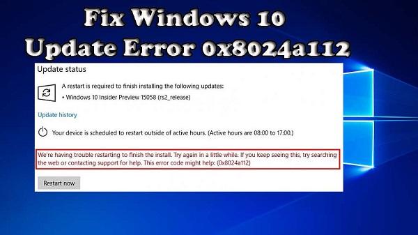آموزش تصویری رفع مشکل ارور 8024a112 در هنگام آپدیت ویندوز 10