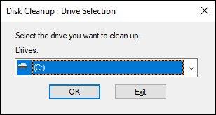 با تمیز کردن دیسک ، پرونده ها را پاک کنید