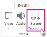 ضبط ویدئو از صفحه نمایش با پاورپوینت