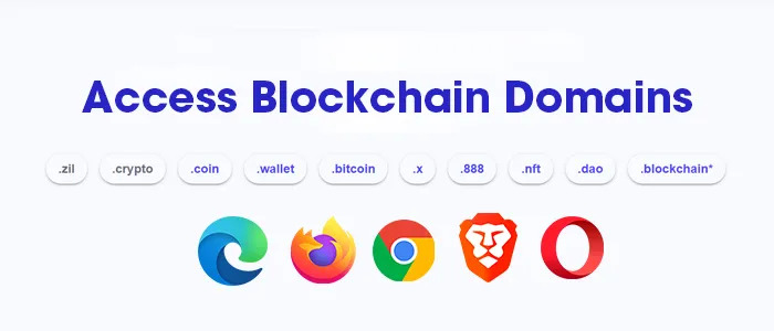 access Blockchain Domains in a Browser