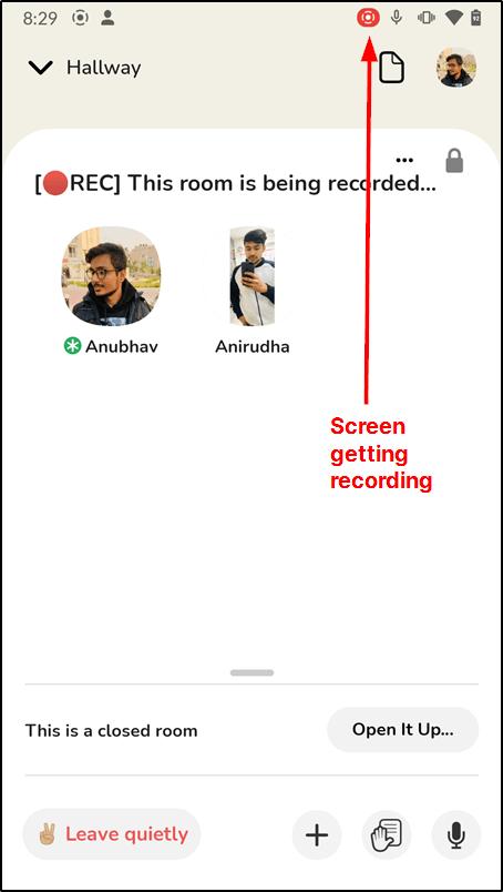 ضبط مکالمات در Clubhouse در Android