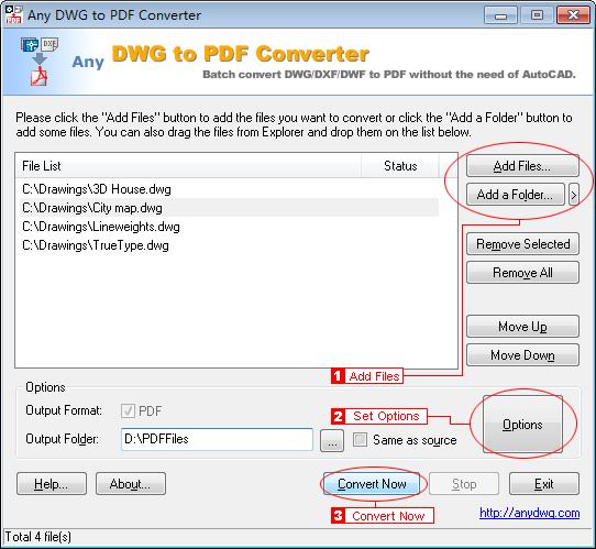 نرم افزار AnyDWG PDF Converter