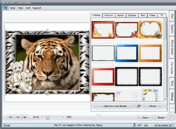 نرم افزار Picture Frame Wizard