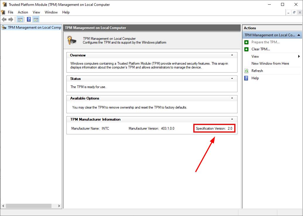 چگونه می توانم بررسی کنم آیا کامپیوتر من TPM دارد؟